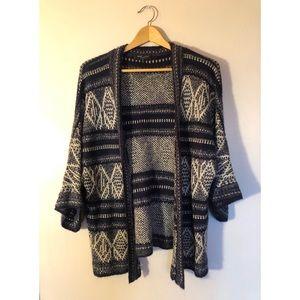 Dark Blue Kimono Sweater